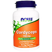 Кордицепс (Cordyceps), Now Foods, 750 мг, 90 капсул.