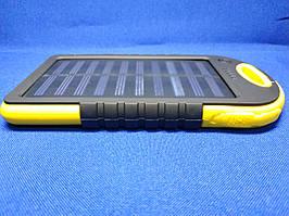 Power Bank Solar 30000mA на солнечных батареях с фонариком (желтый)
