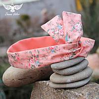 Персиковая двусторонняя повязка с цветочным принтом, фото 1