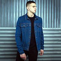 Джинсовая куртка мужская BeZet Raven 19 темно-синяя XXL XS