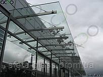 Козырьки и навесы из стекла