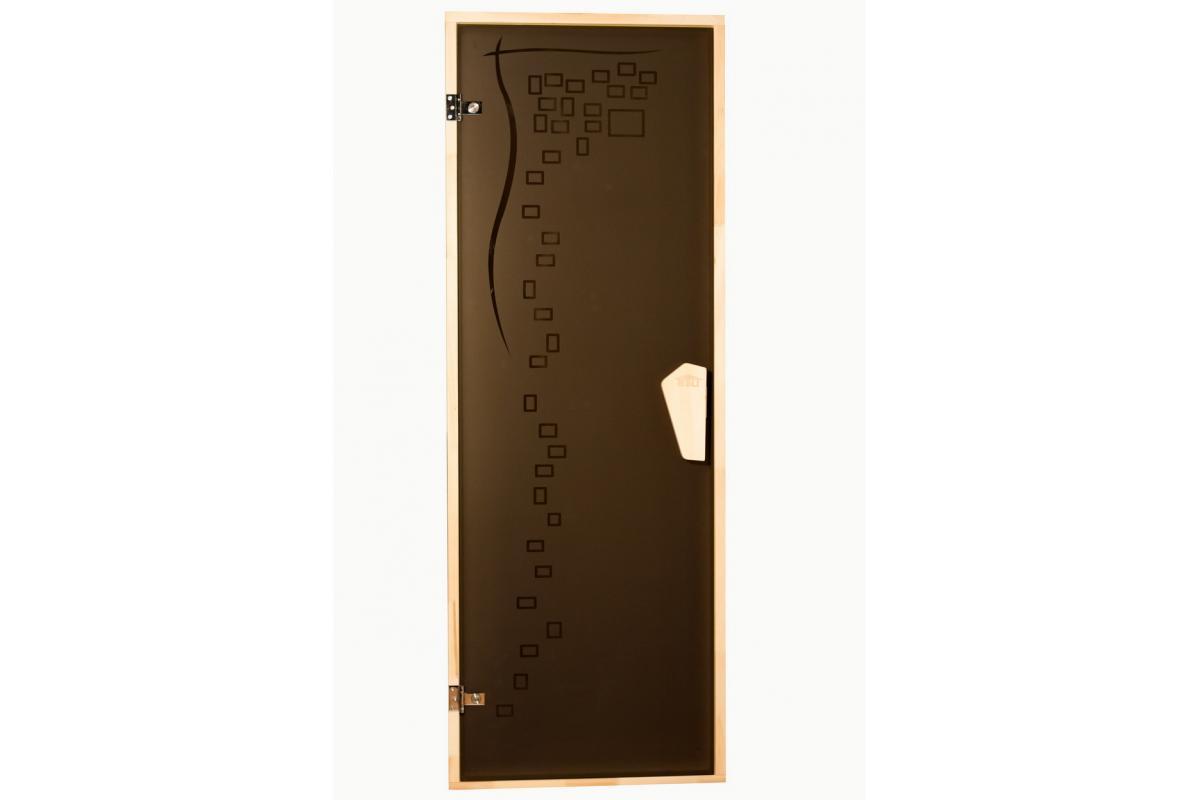 Дверь для бани и сауны Tesli Graphic 700 х 1900
