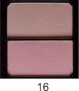 """Компактные румяна для лица двухцветные """"Parisa Cosmetics"""" BB-702 №16"""