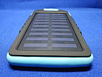 Power Bank Solar 10000mA на солнечных батареях с фонариком (Голубой), фото 1
