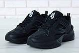 Жіночі кросівки в стилі найк M2K Tekno Black, фото 6