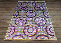 Акриловый рельефный ковер Bonita (Турция) крупные цветы яркий