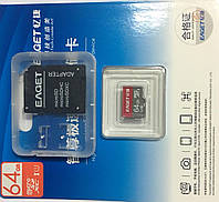 MicroSDHC UHS-1 64GB + SD-adapter . Карта памяти 64 гиг + адаптер