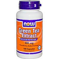 Экстракт зеленого чая, EGCg (Green Tea), Now Foods, 400 мг, 100 капсул