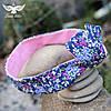 Цветочная двусторонняя повязка для волос