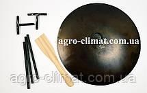 Сковорода из бороны 500 мм съемные ножки и ручки + крышка  , фото 2