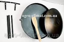 Сковорода из бороны 500 мм съемные ножки и ручки + крышка  , фото 3