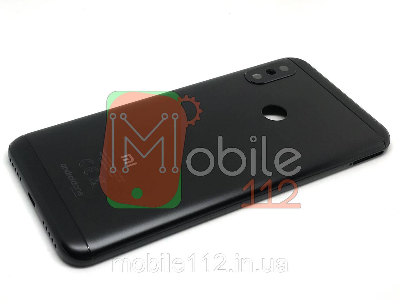 Задняя крышка Xiaomi Mi A2 Lite Redmi 6 Pro черная оригинал PRC