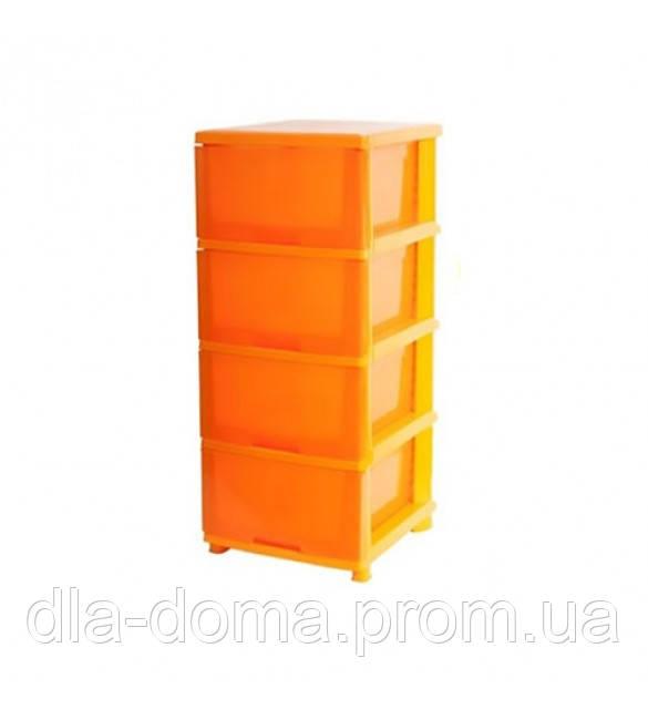 Пластиковый комод 4 ящика