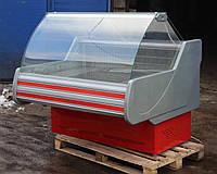 Холодильная витрина охлаждаемая «Технохолод Невада» 1.3 м. (Украина), широкая выкладка 78 см. Б/у , фото 1