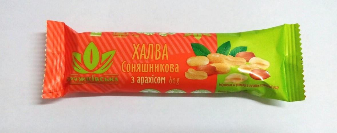 """Халва арахис 60г """"Дружковская"""""""