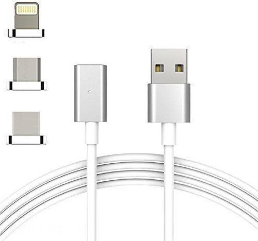Шнур для мобильного magneti 3in1 micro lightning type-c магнитный AR 69 (usb, micro, type-c) Android iPhone