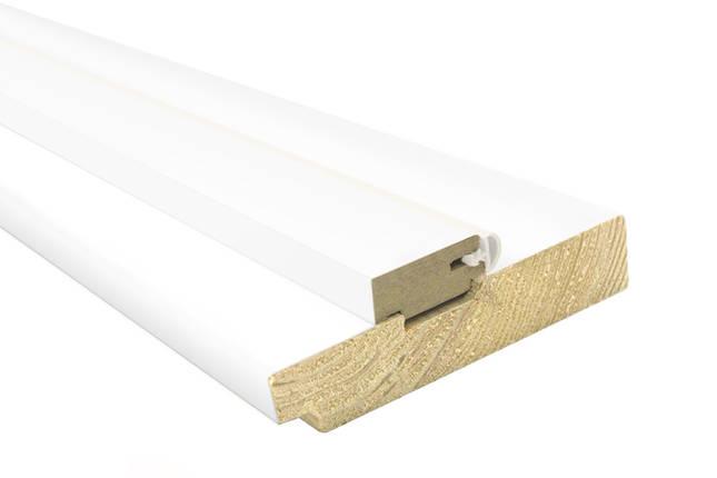 Дверная коробка Cortex 80х33х2050мм Сосна белый silk matt комплект, фото 2