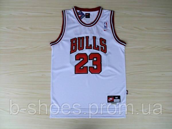 Мужская баскетбольная майка Chicago Bulls Retro (Michael Jordan) White -  B-SHOES в f464685ca12