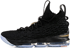 Мужские кроссовки Nike LeBron 15 Black/Gold 897648 006, Найк Леброн, Найк Леброн