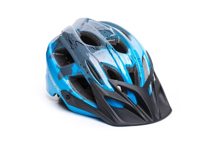 Шолом велосипедний OnRide Rider M Grey Blue, фото 2