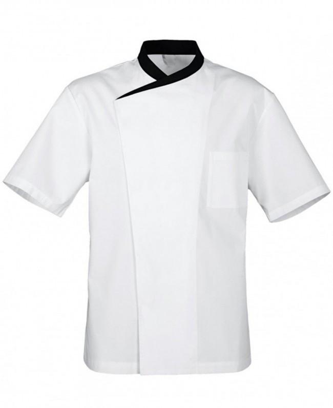 Китель повара белый с черным воротником «Чайка» Atteks - 00943