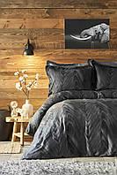 Karaca Home Afya black евро комплект  постельного белья
