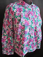 Женская ситцевая блуза на лето.