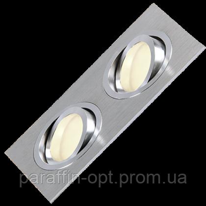 Світильник точковий MR16 max 2x50W  алюміній