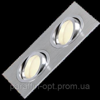 Світильник точковий MR16 max 2x50W  алюміній, фото 2