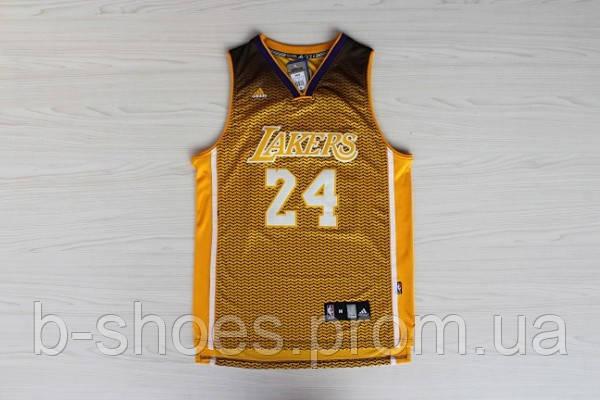 Мужская баскетбольная майка Los Angeles Lakers Fashion (Kobe Bryant) Yellow