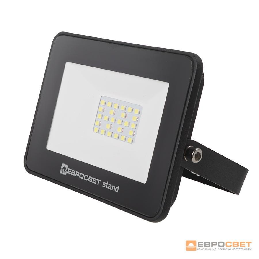 Прожектор светодиодный ЕВРОСВЕТ 20Вт 6400К EV-20-504 STAND-XL 1600Лм