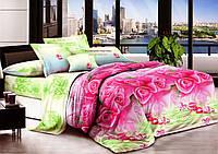 Комплект постельного белья   Розы 2 евро