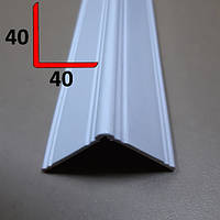 Уголок ПВХ под покраску фигурный 40х40, 2,7 м Белый