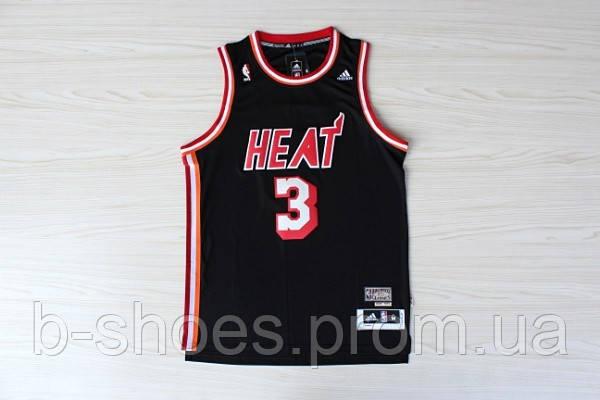Мужская баскетбольная майка Miami Heat Retro (Dwyane Wade) Black