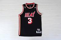 Мужская баскетбольная майка Miami Heat Retro (Dwyane Wade) Black, фото 1