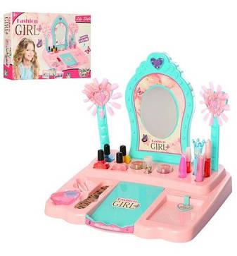 Игровой набор с трюмо, настоящая косметика для девочек Fashion Girl, фото 2