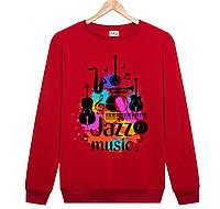 Джемпер JAZZ MUSIC  мужской красный