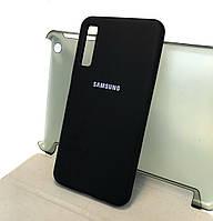 Чехол накладка на заднюю панель Silicone Cover Full для Samsung galaxy A7 2018, A750