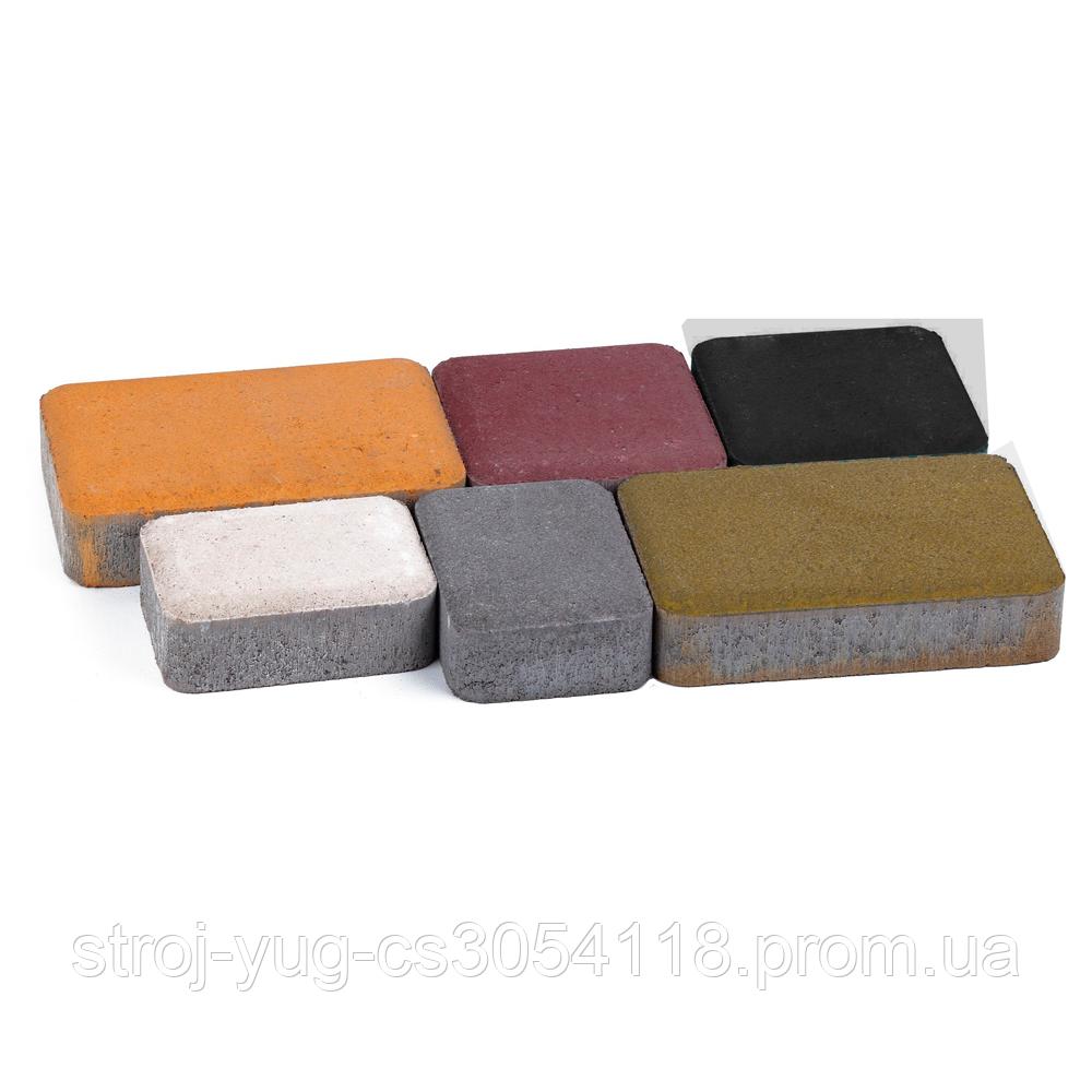 Тротуарная плитка «Носталит», красный, 60 мм, заводское качество