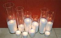 Свечи Песочные Белые