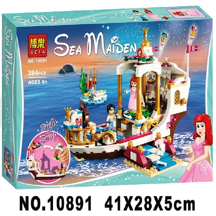 Конструктор Bela 10891 Disney Princess Королевский корабль Ариэль 384 деталей