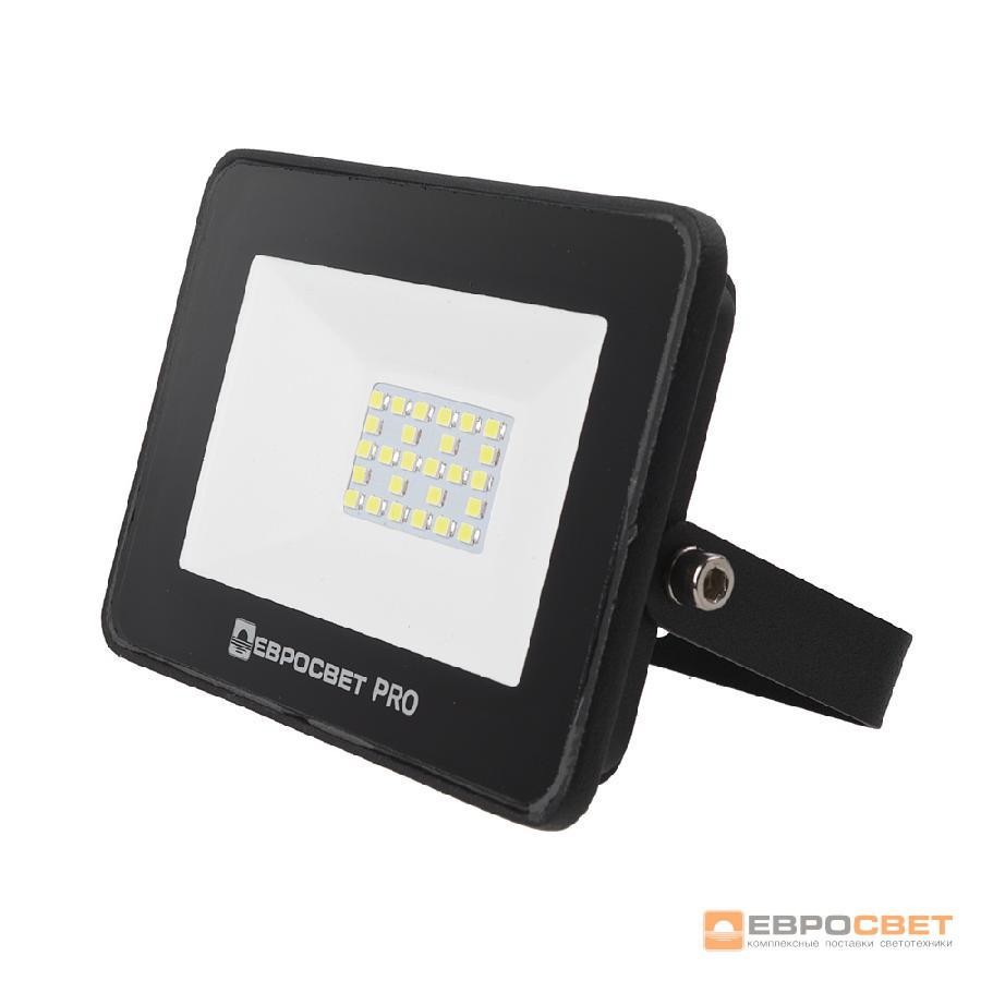 Прожектор светодиодный ЕВРОСВЕТ 20Вт 6400K EV-20-504 PRO 1800Лм, фото 1
