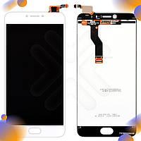 Дисплей Meizu M3 Note с тачскрином в сборе, цвет белый, версия L681h, уценка