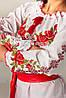 Женская вышиванка с розами и орнаментом Зоряна, фото 3