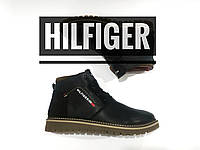 Распродажа! 40р. ❗ПОСЛЕДНИЙ РАЗМЕР❗ Высокие Кожаные мужские ботинки Рантовые зимние в стиле Hilfiger