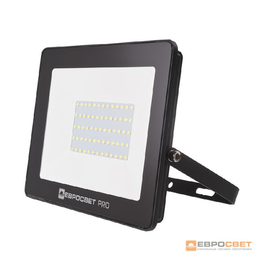Прожектор светодиодный ЕВРОСВЕТ 50Вт 6400К EV-50-504 PRO-XL 4500Лм