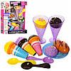 Продукты игрушечные на липучке 6687-2, мороженое, посуда