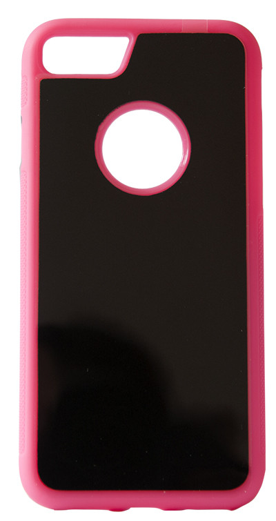 Чехол бампер iPhone 6 6s накладка прилипающая Antigravityчёрно розовая
