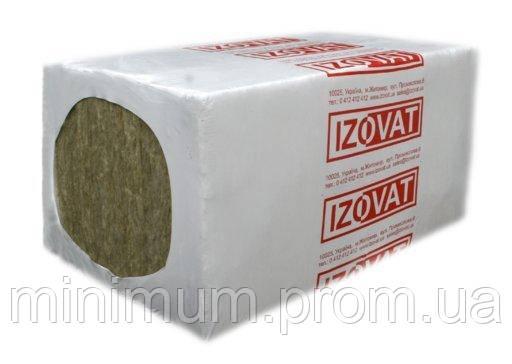 Фасадная базальтовая вата IZOVAT 125 1000х600х100 мм, (2 шт/уп, 1,2 м2)