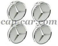 Ковпачки для литих дисків Mercedes сірий 60мм, фото 1
